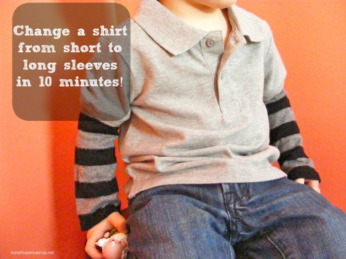 change a shirt from short to long sleeves in 10 minutes