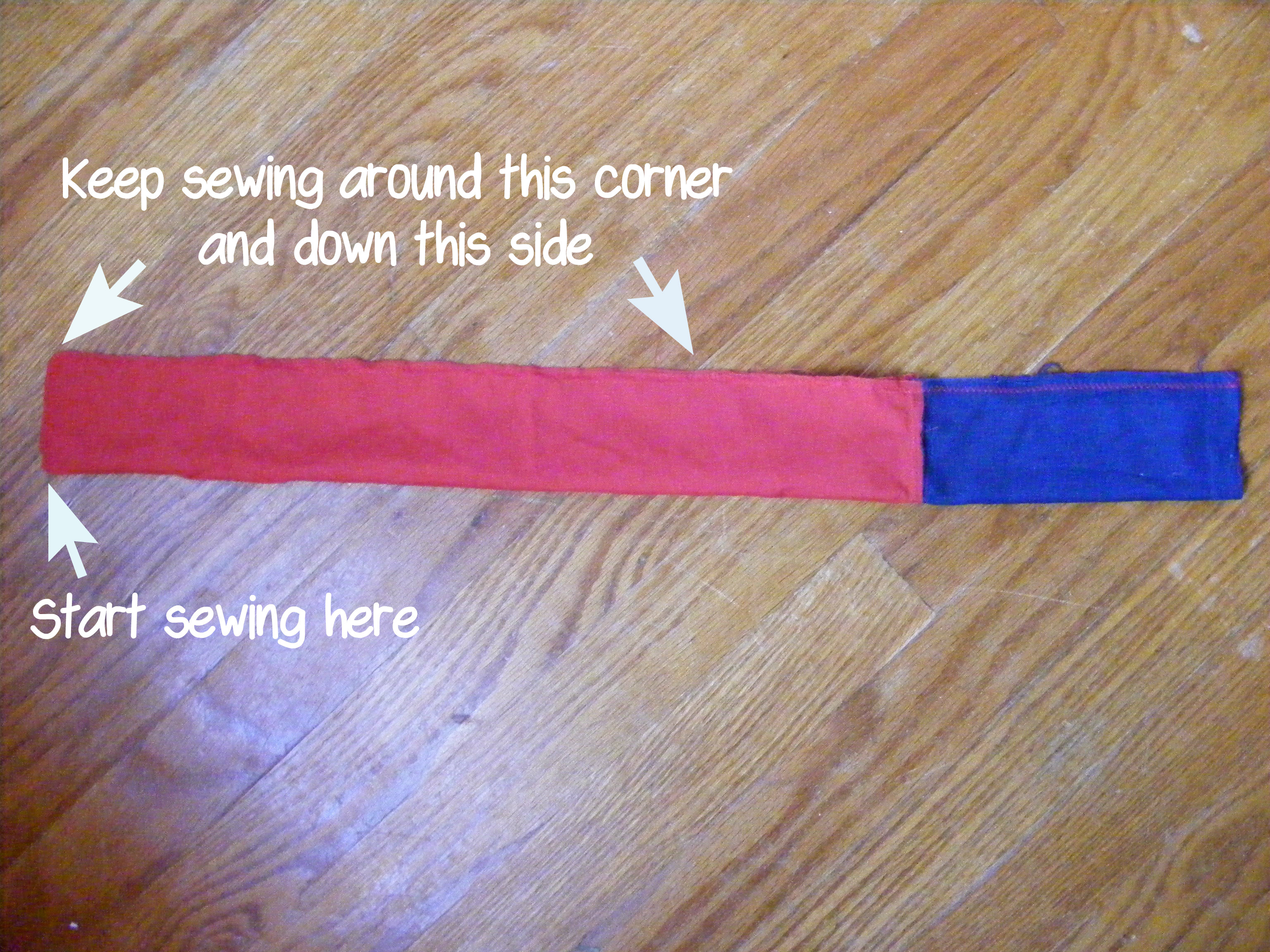 sewing body of light saber