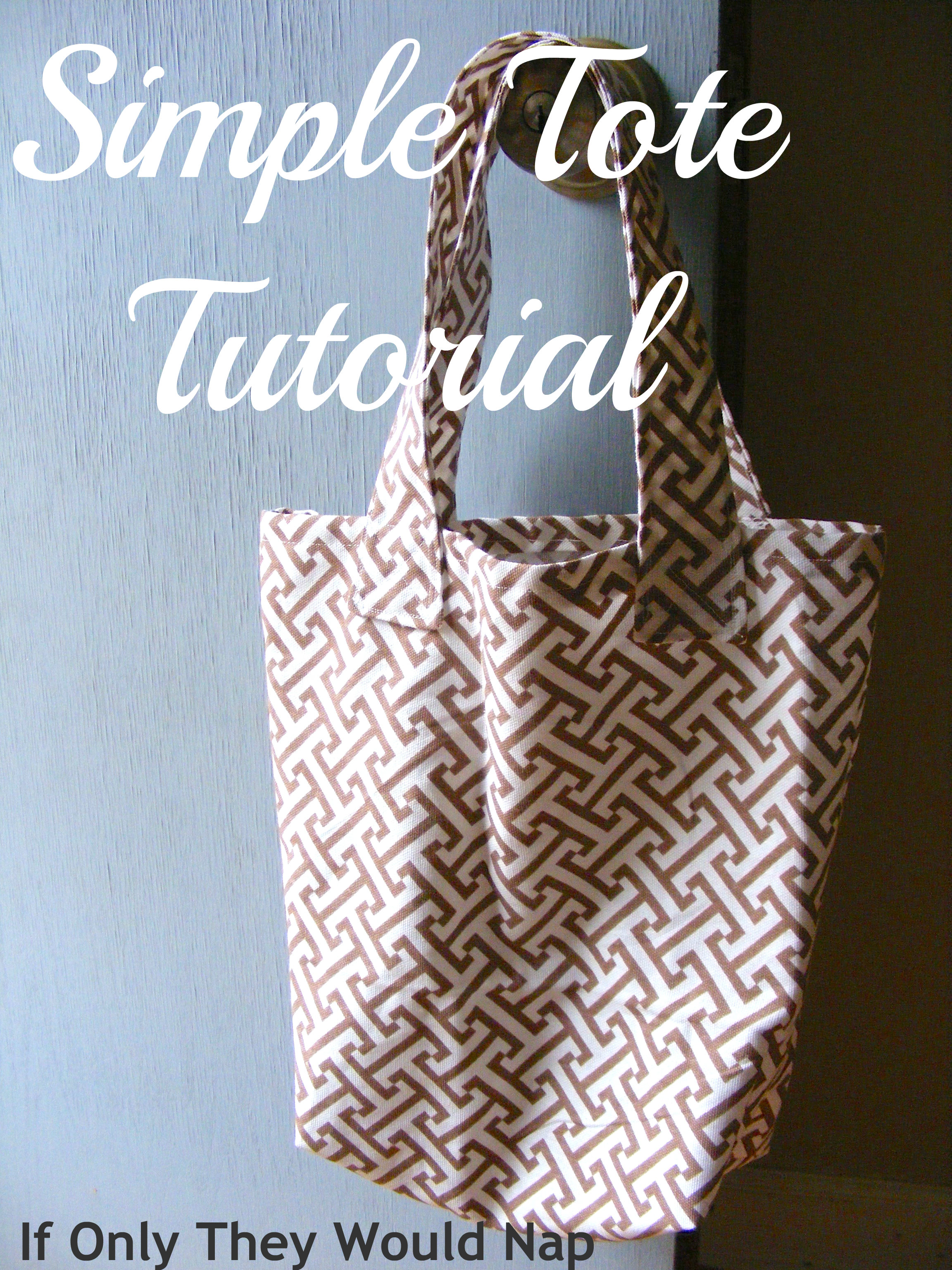 simple tote tutorial