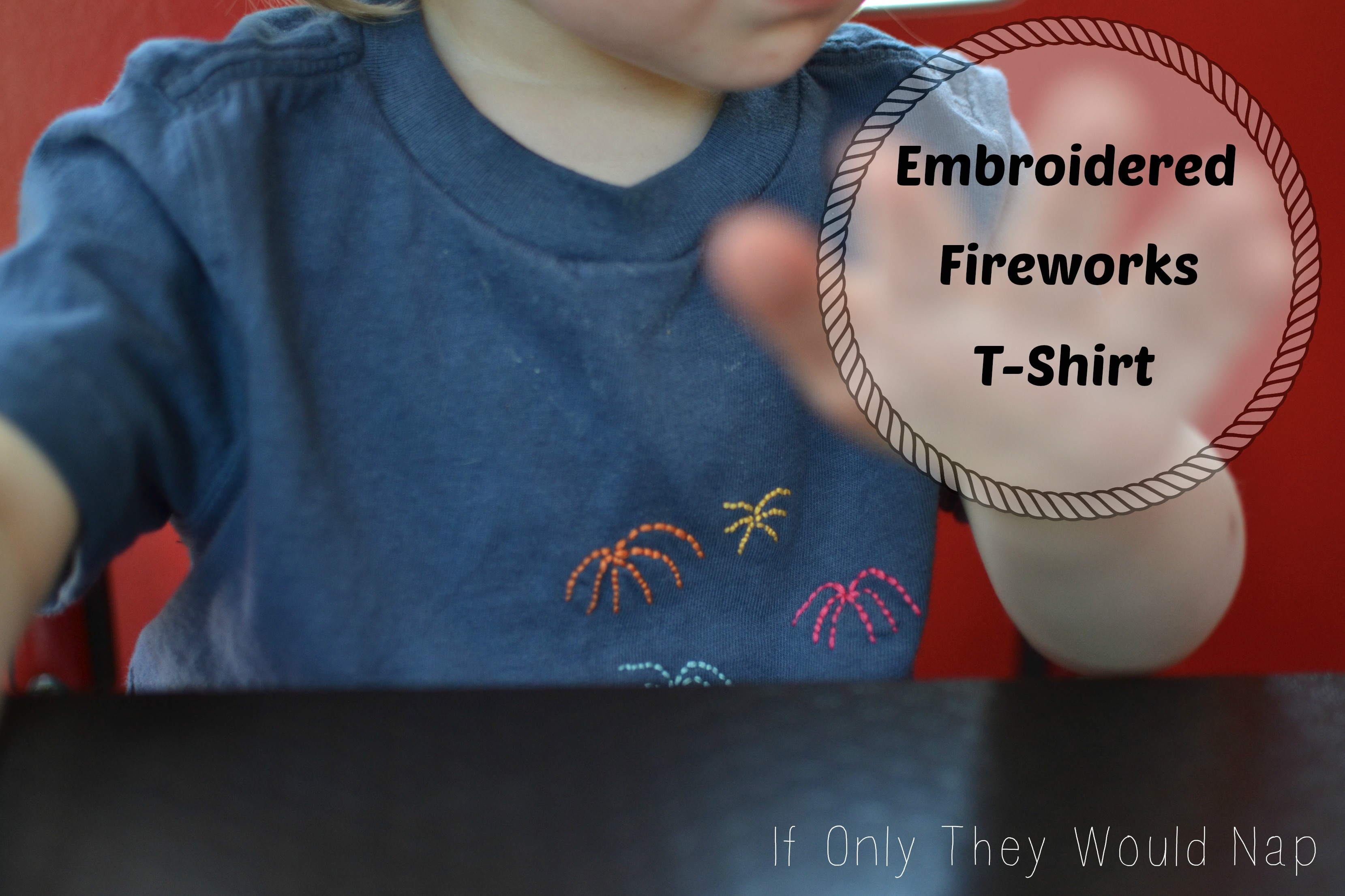Embroidered Fireworks T-shirt