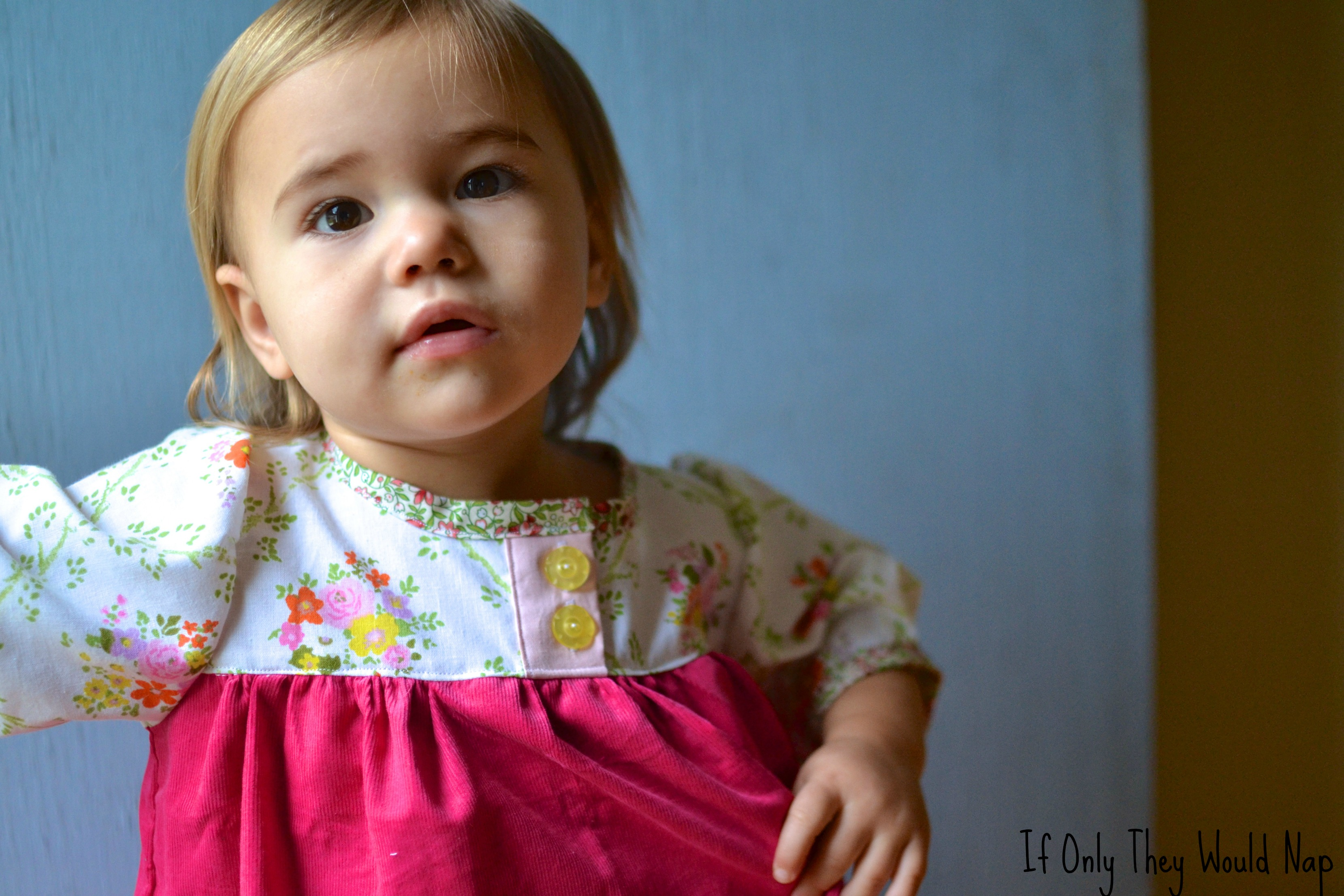Vintage Fabric Olivia Dress  If Only They Would Nap