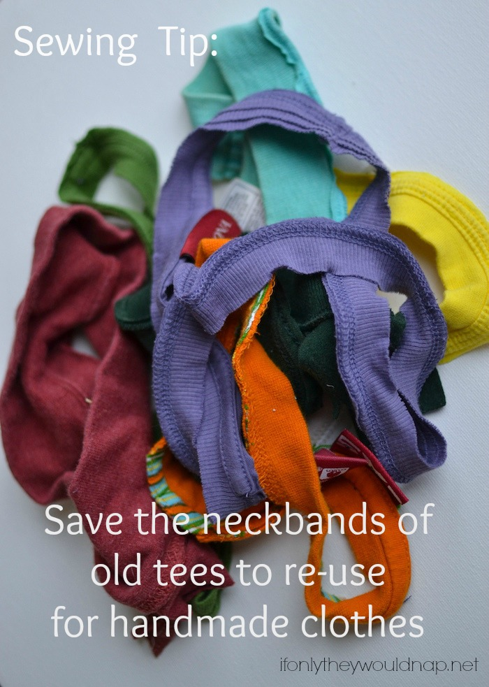 save the neckbands of old tees