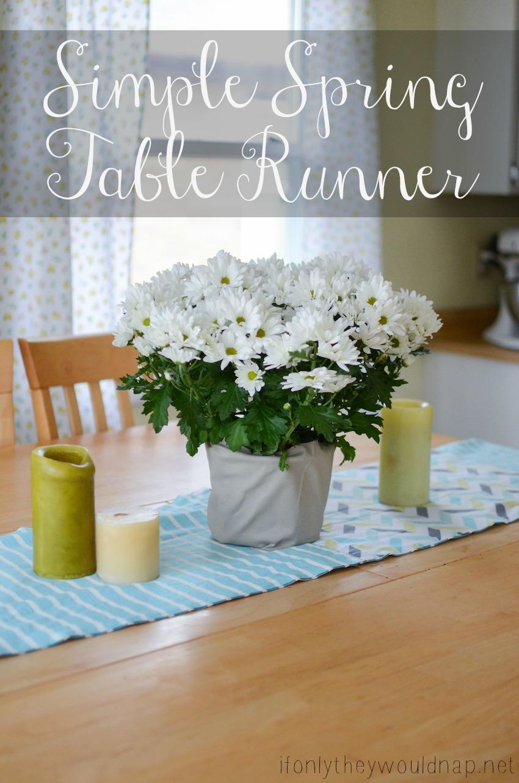 Simple Spring Table Runner Tutorial