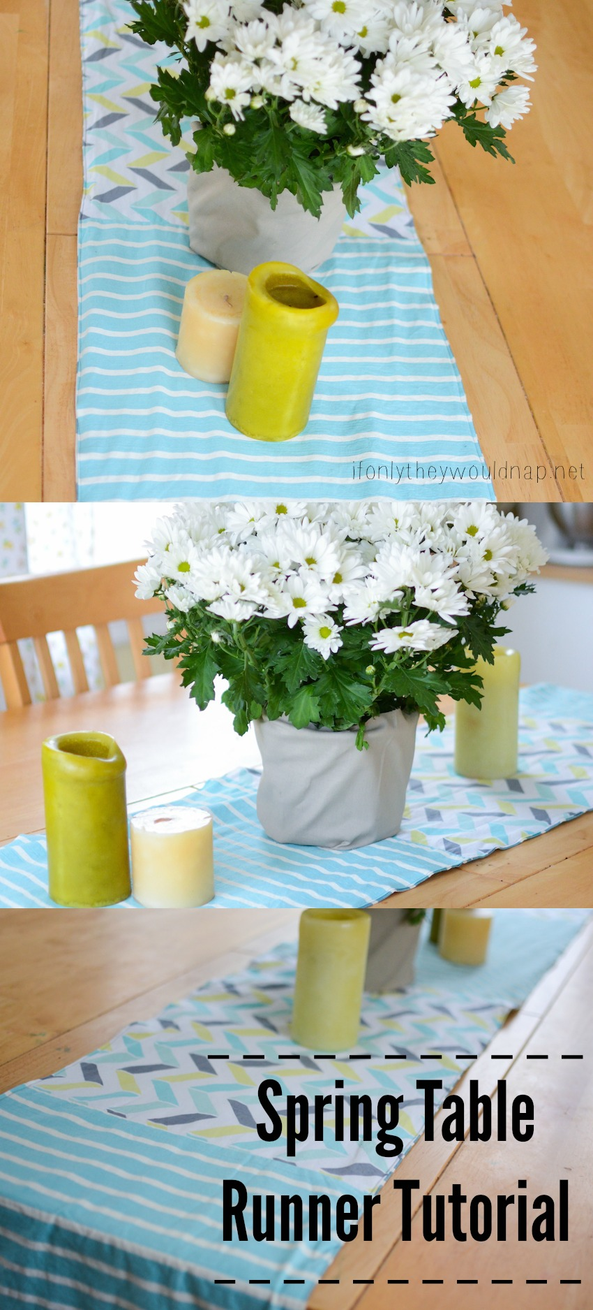 Spring Table Runner Tutorial from If Only They Would Nap