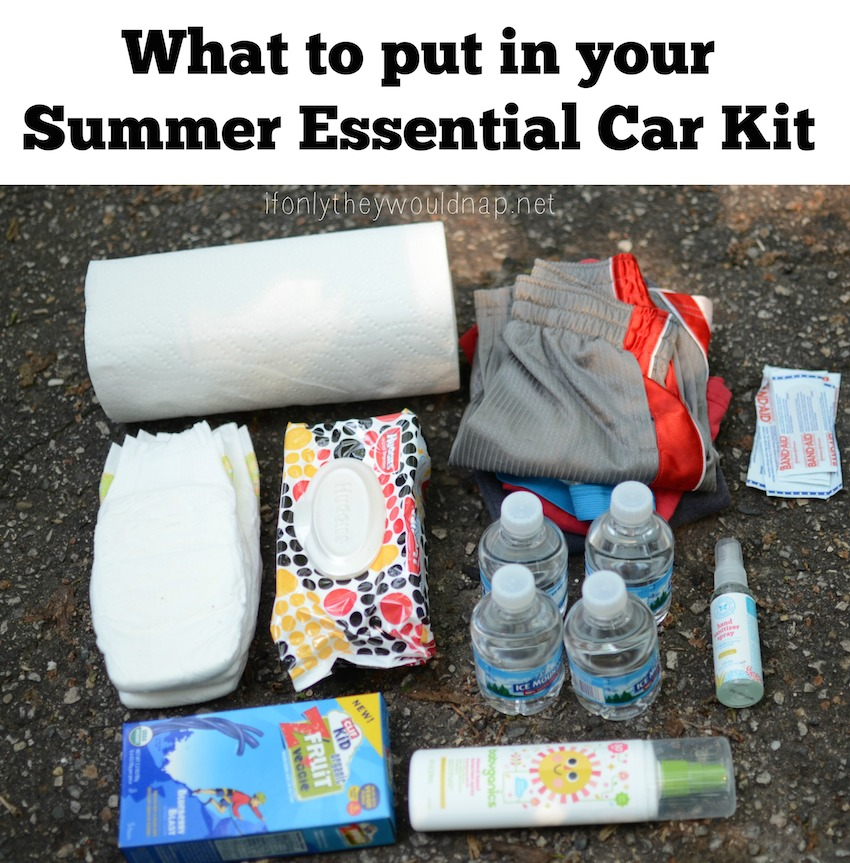 What to put in your Summer Essential Car Kit