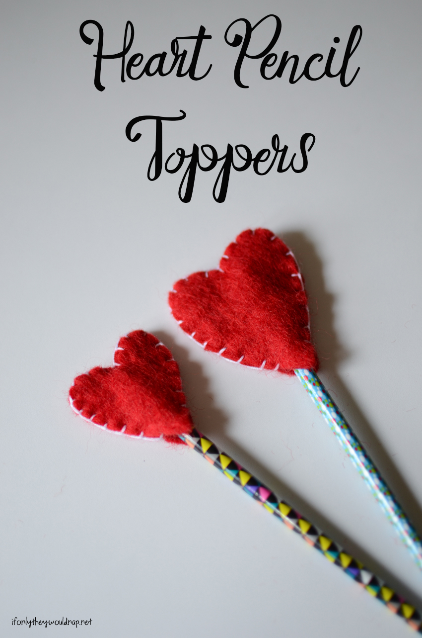 DIY Heart Pencil Toppers for Valentine's Day