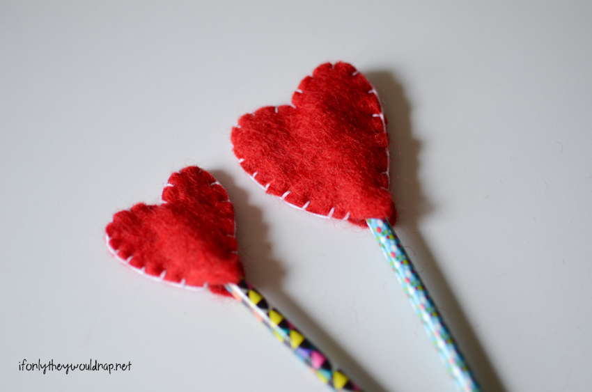 heart pencil topper