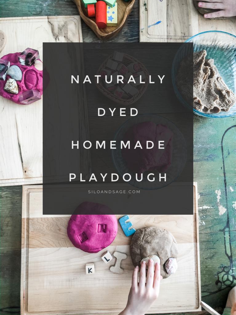 Naturally Dyed Homemade Playdough